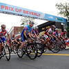 Beverly:<br /> The start of the Masters category on Cabot Street during the Third annual Beverly Gran Prix cycling race.<br /> Photo by Ken Yuszkus/Salem News, Wednesday, August 3, 2011.
