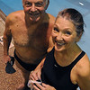 Marblehead:<br /> Tom Kutai, age 76,and Susan Livingston, age 71, are two Senior National championship swimmers.<br /> Photo by Ken Yuszkus/Salem News, Thursday, December 10, 2009.
