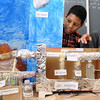 Salem:<br /> James Lora, left, and William Pimentel, both 6th grade students at the Collins Middle School, speak about their contribution to the class project which is a model of a human setting on mars.<br /> Photo by Ken Yuszkus/Salem News, Friday, January 29, 2010.