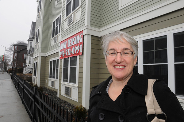 Beverly:<br /> Nina Cohen, project manager for North Shore Community Development Coalition, at its newest affordable housing project, Cabot Street Homes. <br /> Photo by Ken Yuszkus/Salem News, Friday, March 11, 2011.