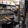 Peabody:<br /> Paula Diaz, co-ordinator, is in the cramped but filled storeroom at Haven from Hunger in Peabody. Haven from Hunger is looking to expand because the space they now occupy is becoming too small for their needs.<br /> Photo by Ken Yuszkus/Salem News, Tuesday, February 15, 2011.