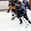 Peabody:<br /> Peabody's Tristina Buckley heads for the net with the puck during the Bishop Fenwick at Peabody girls hockey game at the McVann O'Keefe Rink.<br /> Photo by Ken Yuszkus/Salem News, Monday, December 26, 2011.