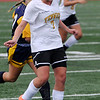 Peabody:<br /> Bishop Fenwick's Ali MacDonald gives the ball a kick while headed down field during the Arlington Catholic at Bishop Fenwick girls soccer game.<br /> Photo by Ken Yuszkus/Salem News, Monday, October 3, 2011.