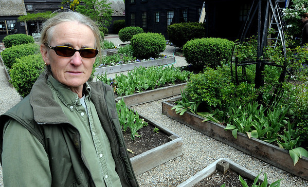 Salem:<br /> Landscape designer Robyn Kanter, stands in the gardens at The House of the Seven Gables. She is speaking Sunday (May 16) on the gardens and the 100 years that it has been in existence.<br /> Photo by Ken Yuszkus/Salem News, Monday, May 10, 2010.