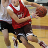 Marblehead:<br /> Tommy Stockwell during practice at Marblehead High School fieldhouse.<br /> Photo by Ken Yuszkus/Salem News, Thursday, January 28, 2010.