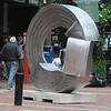 Salem:<br /> One of the large sculptures on the Essex Street pedestrian mall.<br /> Photo by Ken Yuszkus/Salem News, Monday, June 13, 2011.