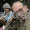 Salem;<br /> Doug Johnson of Salem, speaks about the election while eating breakfast at Red's Sandwhich Shop the morning after the election.<br /> Photo by Ken Yuszkus/Salem News, Wednesday, November 5, 2008.