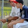 Peabody:<br /> Matt Hosman of the Peabody West Little League team, talks with his father John Hosman. The Peabody West Little League team won the state title.<br /> Photo by Ken Yuszkus/Salem News, Tuesday, August 4, 2009.