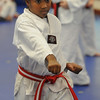 Beverly:<br /> Kiara Wilson during practice of the childrens all belt class at DW Kim US Tae Kwon Do studio on Friday.<br /> Photo by Ken Yuszkus/Salem News, Friday, December 2, 2011.