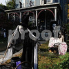 Salem:<br /> The house at 20 Linden Street is decorated for Halloween.<br /> Photo by Ken Yuszkus/Salem News, Tuesday October 21, 2009.