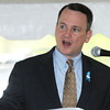 Danvers:<br /> Lt. Governor Tim Murray speaks at the Essex North Shore Agricultural & Technical School groundbreaking ceremony.<br /> Photo by Ken Yuszkus/Salem News, Wednesday, May 9, 2012.