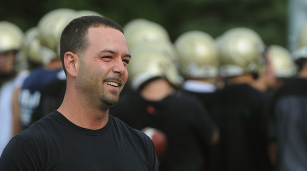 Peabody:<br /> Brett Belleville played football for Bishop Fenwick and is one of the best high school QBs of the last 40 years.<br /> Photo by Ken Yuszkus/The Salem News, Monday, August 20, 2012.