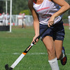 Topsfield:<br /> Brooke Stewart, a senior field hockey midfielder for Masconomet High School, at practice on Monday afternoon.<br /> Photo by Ken Yuszkus/Salem News, Monday, September 12, 2011.