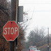 Salem:<br /> Willson Road sign at Wilson Street.<br /> Photo by Ken Yuszkus/Salem News, Thursday, February 25, 2010.