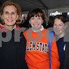 Danvers:<br /> From left, Pauline Morency, Pat Maguire Meservey, president of Salem State College, and Adria Leah, all from Salem and Salem State College, at the food drive. Sen. Fred Berry organized a day-long family festival to get donations for 6 local food pantries in Salem, Beverly, Peabody and Danvers.<br /> Photo by Ken Yuszkus/Salem News, Sunday October 25, 2009.