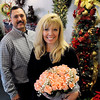 Peabody:<br /> Michele and Dennis Feld, owners of Evan's flowers, have been owners for 25 years.<br /> Photo by Ken Yuszkus/Salem News, Monday, December 14, 2009.