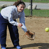 Middleton:<br /> Holly Ryan at North Shore Tech High School softball practice. <br /> Photo by Ken Yuszkus/Salem News, Monday,  April 2, 2012.