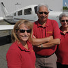 Danvers:<br /> From left, Wendy Beard with her parents, Arne and Carol Nordeide, at Beverly Flight Center.<br /> Photo by Ken Yuszkus/Salem News, Thursday, June 16, 2011.