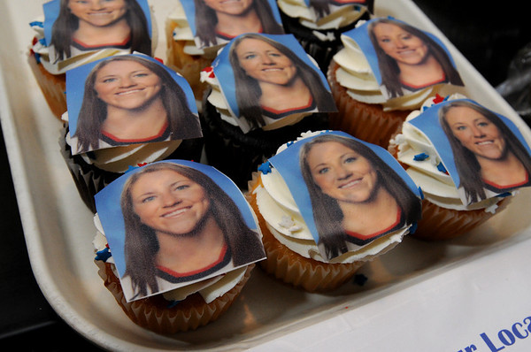 Danvers:<br /> Cupcakes made with the likeness of Olympian Meghan Duggan. The cupcakes were made at Cakes For Occasions.<br /> Photo by Ken Yuszkus/Salem News, Wednesday, February 24, 2010.
