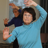Beverly:<br /> Barbara Gordon participates in the Tai Chi class at the Beverly senior center on Tuesday afternoon.<br /> Photo by Ken Yuszkus/Salem News, Tuesday, January 17, 2012.