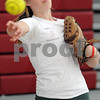 Salem:<br /> Maggy Duffy throws during the Salem High softball practice.<br /> Photo by Ken Yuszkus/Salem News, Tuesday, April 14, 2009.