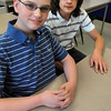 Salem:<br /> Shawn Provencher, left, and Atticus Meche finished in the top five in the state junior varsity championship and are headed to the National History Bee this weekend. They are students of the Salem Academy Charter School<br /> Photo by Ken Yuszkus/Salem News, Thursday, April 14, 2011.