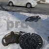 Salem:<br /> Hubcaps lay on the side of Andover Street where a nearby pothole jarred them loose off passing motor vehicles. The pothole was filled in when the photo was taken.<br /> Photo by Ken Yuszkus/Salem News, Friday,  February 6, 2009.