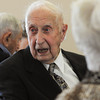 Beverly:<br /> William Kolhonen is at his 1937 Peabody High School class reunion.<br /> Photo by Ken Yuszkus/Salem News, Tuesday, April 17, 2012.