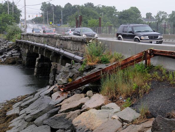 Danvers:<br /> The bridge on Water Street in Danvers.<br /> Photo by Ken Yuszkus/Salem News, Monday, June 25, 2012.