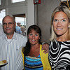 Danvers:<br /> From left, Louie Ganbale, his wife Donna Ganbale, and Pat Burnham attend The Frates Friends and Family Night: A Fundraiser To Benefit The Pete Frates #3 Fund. Pete Frates, a former St. John's Prep and Boston College baseball star from Beverly stricken with ALS<br /> Photo by Ken Yuszkus/Salem News, Wednesday, June 27,  2012.