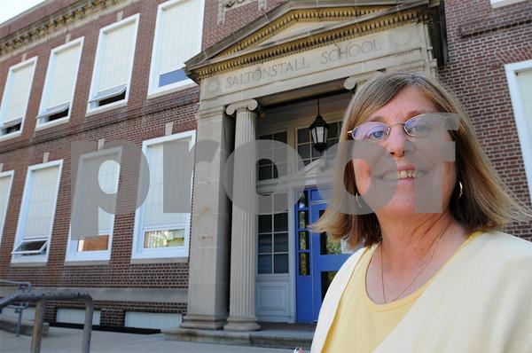 Salem:<br /> Dr. Peg Howard, principal of the Saltonstall School, is in her final few weeks before she retires.<br /> Photo by Ken Yuszkus/Salem News, Monday, July 13, 2009.