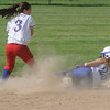 Danvers:<br /> Danvers' Devyn Downs slides safe into second base during the Tewksbury at Danvers High softball state tournament game.<br /> Photo by Ken Yuszkus/Salem News, Thursday, May 31, 2012.
