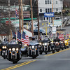 Topsfield:<br /> The Wreaths Across America procession drives south on Route 1 just before arriving at the Topsfield Fairgrounds for a ceremony. They will eventually end their trip in Arlington National Cemetery.<br /> Photo by Ken Yuszkus/Salem News, Monday, December 5, 2011.
