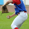 Lynn:<br /> North Shore Navigators' pitcher Bobby Dean warms up before the Brockton Rox at North Shore Navigators baseball game held at Fraser Field.<br /> Photo by Ken Yuszkus/Salem News, Thursday, July 5,  2012.