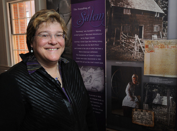 Salem:<br /> Mary Ellen Smiley, curator of the Salem Museum, is going to give a lecutre on Puritan sexuality at the House of the Seven Gables.<br /> Photo by Ken Yuszkus/Salem News, Thursday, November 3, 2011.