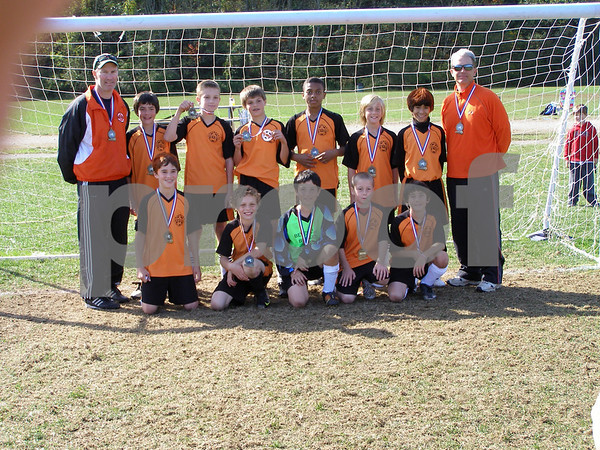 The Beverly Bombers Boys U12 Division 1 Team - won the Peabody Invitational Soccer Tournament this weekend<br /> Front Row - Kevin Barry, Leo Feingold, Nathaniel Singer, Brian Harty, Peter Coletti<br />  <br /> Standing :  Coach Brian Harty, Christian Goodwin, Dylan Stevens, Spencer Danforth, Matt Madden, Jake Bettencourt, Nahual Pittamiglio, Coach Rick Stevens<br /> Missing from the photo is Brandon Girard