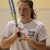 Peabody:<br /> Bishop Fenwick's Kim Shinnick at softball practice in the gym at Bishop Fenwick on Tuesday.<br /> Photo by Ken Yuszkus/Salem News, Tuesday, April 19, 2011.