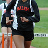 Beverly:<br /> Salem's Jasmine Bryant runs her final straight away and wins her heat of the girls 400 yard hurdles during the Salem at Beverly track meet.<br /> Photo by Ken Yuszkus/Salem News, Tuesday, May 17, 2011.