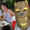 Peabody:<br /> Gabe Malta, 12, wears his just completed animal mask which he made during the playground program run by the Peabody Rec department at Connolly Park on Thursday. The animal themed craft coincides with the Curious Creatures presentation on Friday.<br /> Photo by Ken Yuszkus/Salem News, Thursday, July 7, 2011.