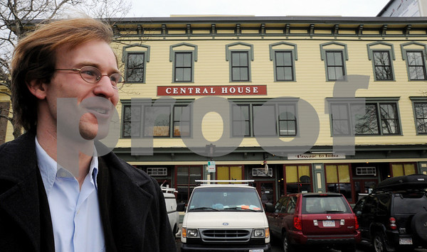 Salem:<br /> Matt Picarsic, of RCG, stands in front of the Central House which is being converted into apartments and retail space by the developer.<br /> Photo by Ken Yuszkus/Salem News, Tuesday December 9, 2008.