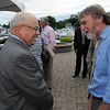 Danvers:<br /> Nelson Benton, left, speaks with Jim McAllister of the Essex County Chronicles at Nelson Benton's retirement party which was held at the Danvers Yatch Club.<br /> Photo by Ken Yuszkus/Salem News, Wednesday, June 27,  2012.