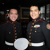 Peabody:<br /> From left, Marco Carvajal and Daniel Villarreal, both of Salem High School, gather at a luncheon at Outback Steakhouse to drum up support for Operation Homefront, a troop-support organization.<br /> Photo by Ken Yuszkus/Salem News, Wednesday, March 3, 2010.