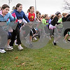 Hamilton:<br /> The start of the family fun run which was one of three races at Patton Park to benefit the Gabe Pacione Memorial Scholarship Fund.  The family fun run was at 10, women's run was at 10:30, and men's run was at 11:30.<br /> Photo by Ken Yuszkus/Salem News, Friday November 28, 2008.