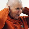 Salem:<br /> Shawn Berry, teacher at the Salem Academy Charter School, had her head shaved by Tiffany Quirk at school, as a fundraiser for St. Baldrick's Foundation, which supports research into childhood cancers. She had it shaved in front of the 6th, 7th, and 8th grades.<br /> Photo by Ken Yuszkus/Salem News, Tuesday, February 8, 2011.