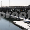 Beverly:<br /> The public pier, which is one part of the plan for improvements of the waterfront.<br /> Photo by Ken Yuszkus/Salem News, Friday,  February 6, 2009.
