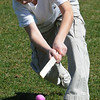 Salem:<br /> Cameron Goff, of Salem, rolls an egg with a stick during a race to the finish line, along with scores of other children, during the Mayor's annual Easter Eggstravaganza on the Bowditch School grounds<br /> Photo by Ken Yuszkus/Salem News, Saturday, April 3, 2010.