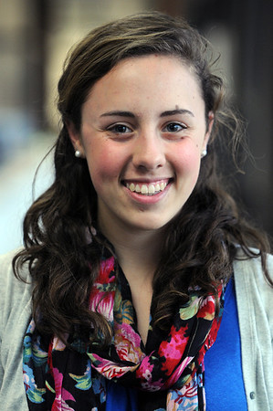 Beverly:<br /> Erin Sylvestri for sports.<br /> Photo by Ken Yuszkus/Salem News, Friday,  March 16, 2012.