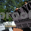 Salem:<br /> Antonio Ciruelo, student activist, speaks to the students in front of the Salem State student campus center at the political rally organized by the students.<br /> Photo by Ken Yuszkus/Salem News, Monday October 6, 2008.