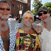 Peabody:<br /> From left, Stephen and Susie Mekalian and Joe Estra, all of Lynn at Peabody's 26th annual International Festival.<br /> Photo by Ken Yuszkus/Salem News, Sunday, September 13, 2009.