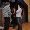 Beverly:<br /> From left, Robin Taliesin, set designer and graphic designer as well as parent of an actress, Barbara Eyges, director, of the Theatre of Light, and Deb Vozella, executive director of Temple Bnai Abraham, talk on stage during the open house at the new rehearsal and performance space in Temple Bnai Abraham.<br /> Photo by Ken Yuszkus/Salem,  News, Wednesday,  December 29, 2010.